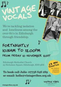 Vintage Vocals Edinburgh Poster 2017