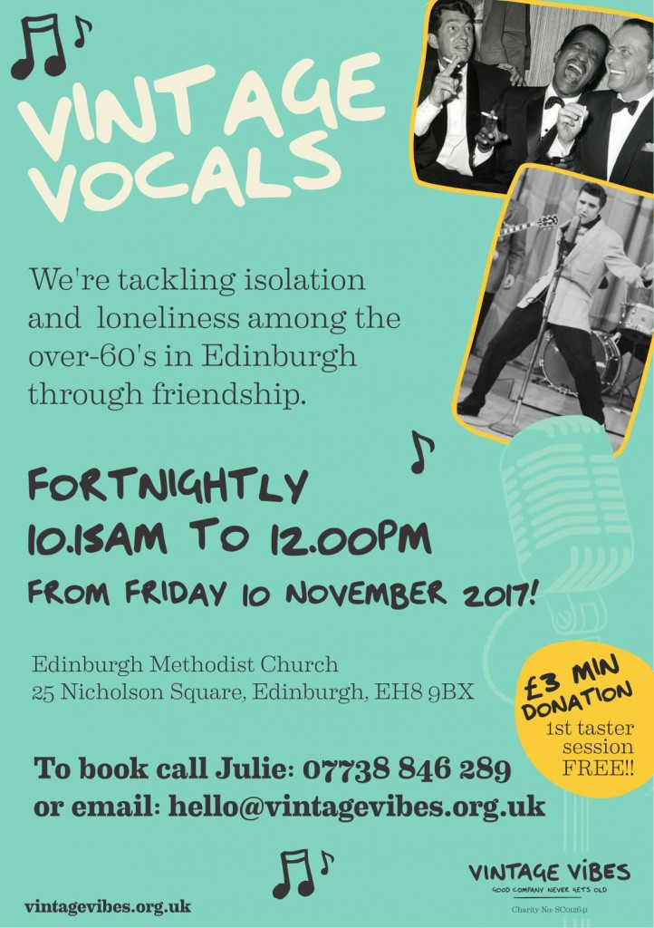 Vintage Vocals Edinburgh Poster 2017