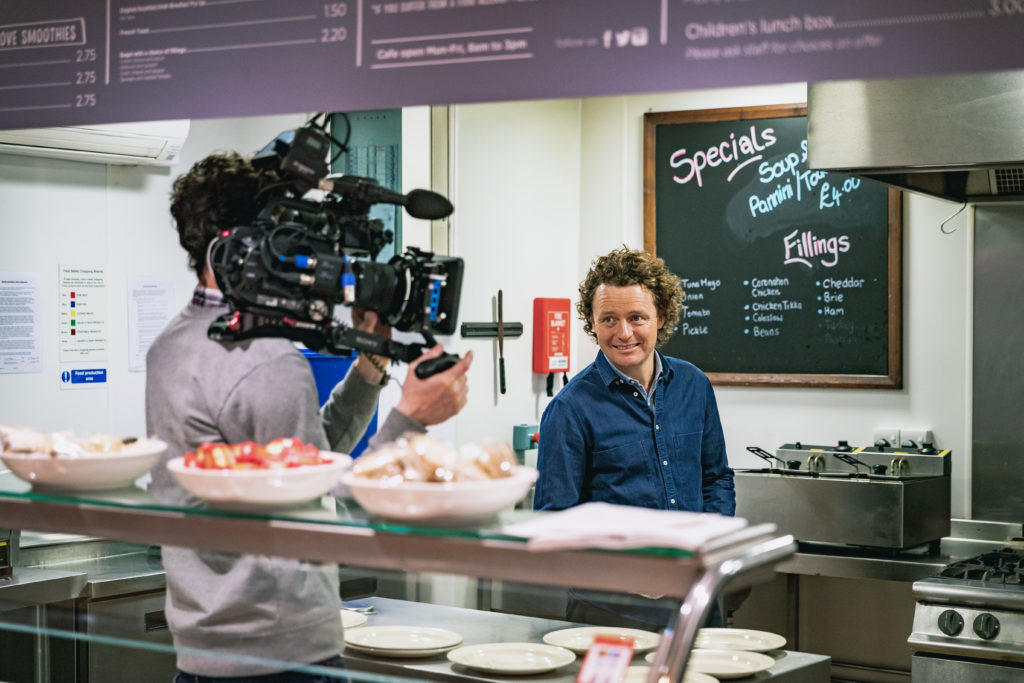 Tom Kitchin in the Vintage Vibes kitchen