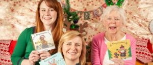 Vintage Vibes Christmas Cards display