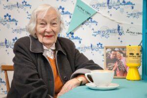 Vintage Vibes Befriending Week photo of Halina with tea